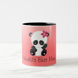 Taza Bicolor El mejores rosa y negro de la panda de la mamá de