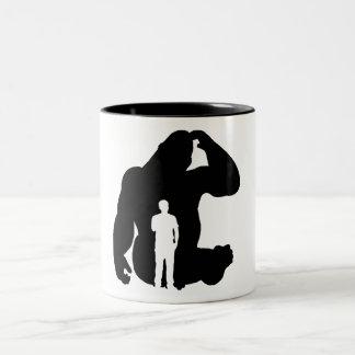 Taza Bicolor El pensador - gorila y hombre