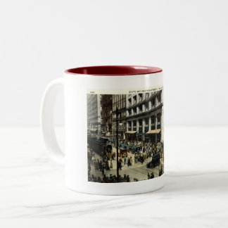Taza Bicolor Estado y Madison Sts., Chicago IL, vintage 1922