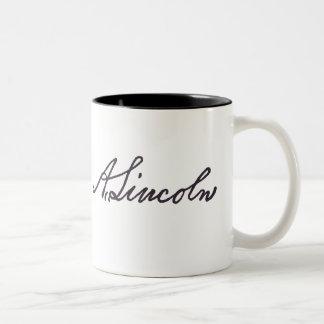 Taza Bicolor Firma de Abraham Lincoln