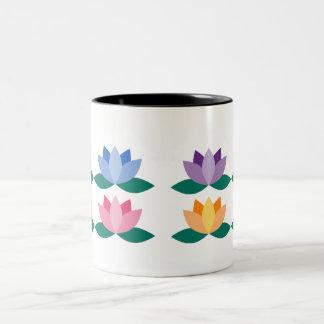 Taza Bicolor Flor de Lotus