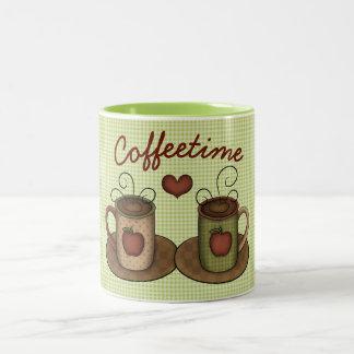 Taza Bicolor Folkart Coffeetime