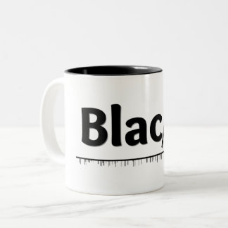 Taza Bicolor Friki negro del color