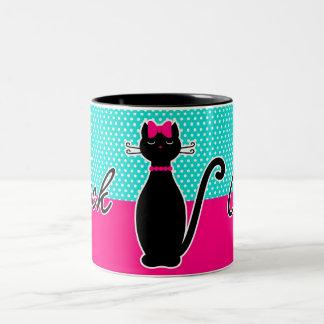 Taza Bicolor Gato negro