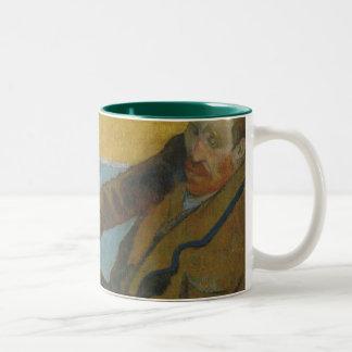 Taza Bicolor Girasoles de la pintura de Van Gogh de Paul
