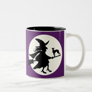 Taza Bicolor Halloween windhond