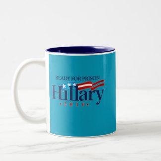 Taza Bicolor Hillary para la prisión 2016