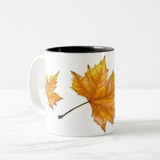 Taza Bicolor Hoja de arce del otoño