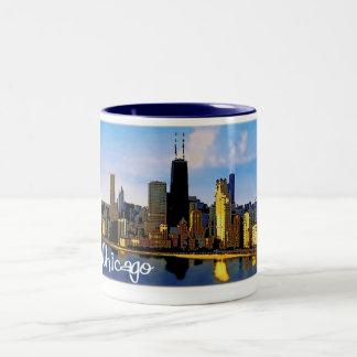 Taza Bicolor Horizonte de Chicago