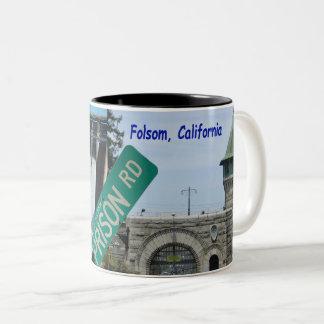 Taza Bicolor Icono de Folsom: Presa y prisión 2 de Folsom