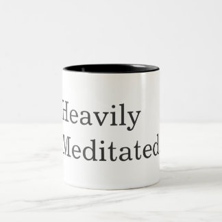 Taza Bicolor La aptitud de la yoga Meditated pesadamente