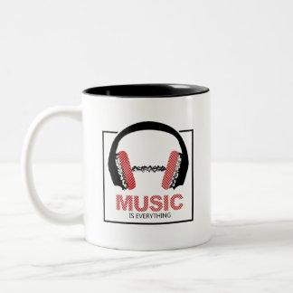 Taza Bicolor La música es todo