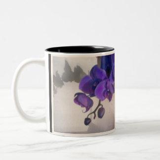 Taza Bicolor La orquídea de la madre
