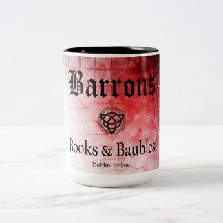 Taza Bicolor Libros de Barrons y chucherías negros/taza roja