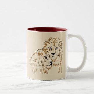 Taza Bicolor Lions