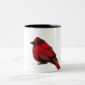 Taza Bicolor Little Red Bird Coffee Mug