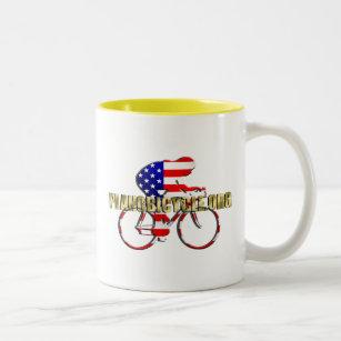 Taza Bicolor Logotipo de ciclo del patriota americano de la 99dba32cab1