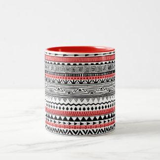 Taza Bicolor Modelo al sudoeste blanco y negro rojo