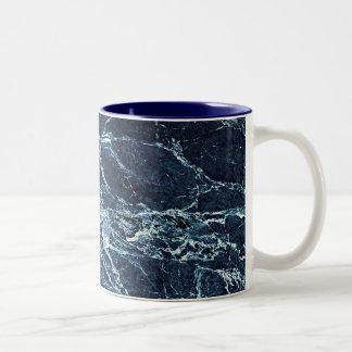 Taza Bicolor Modelo de mármol moderno azul