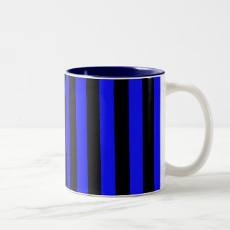 Taza Bicolor Modelo rayado azul y negro Coloured