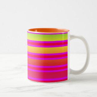 Taza Bicolor Modelo rayado Coloured
