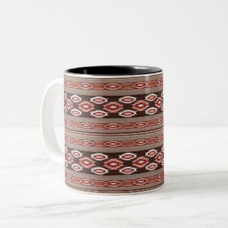 Taza Bicolor Modelo tribal de Navajo al sudoeste