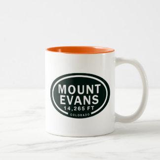 Taza Bicolor Montaña rocosa de Evans 14.265 pie Colorado del