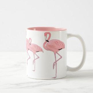 Taza Bicolor multitud de flamencos rosados