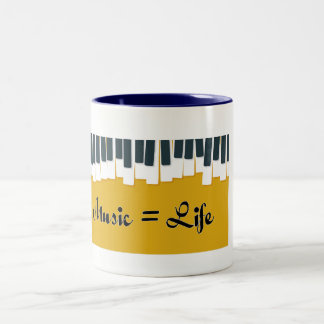 Taza Bicolor Music is life
