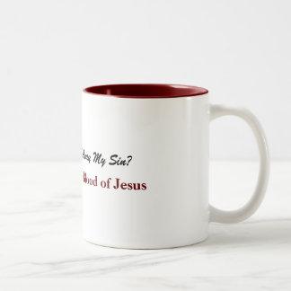 Taza Bicolor Nada pero la sangre de Jesús