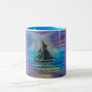 Taza Bicolor Navegación en los mares tranquilos
