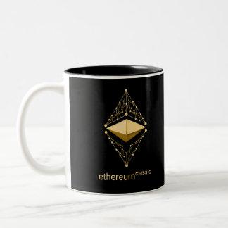 Taza Bicolor Obra clásica de Ethereum hecha del oro