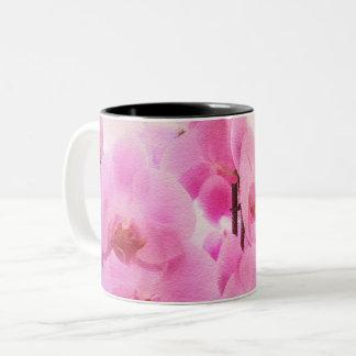 Taza Bicolor orquídeas