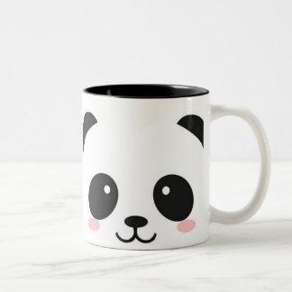 Taza Bicolor Panda feliz linda de la cara