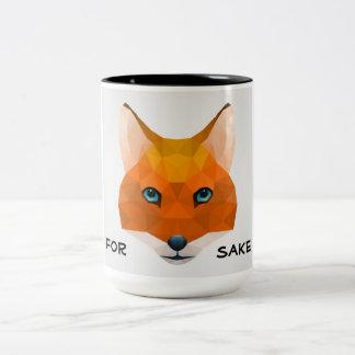 Taza Bicolor Para el motivo del zorro