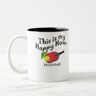Taza Bicolor Pickleball: Ésta es mi hora feliz