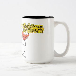 Taza Bicolor Podge - café #1 - grito silencioso