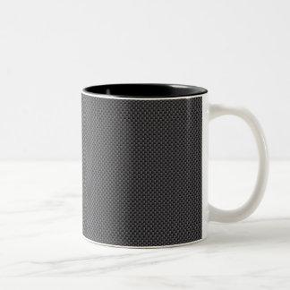 Taza Bicolor Polímero negro y gris de la fibra de carbono