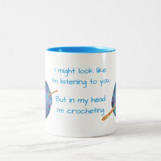 Taza Bicolor Puede ser que mire como estoy escuchando usted…