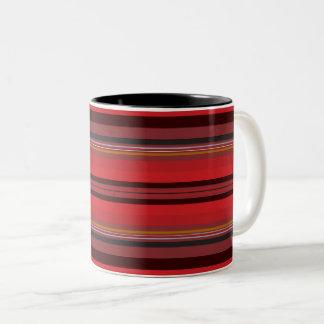 Taza Bicolor Rayas - horizonte rojo