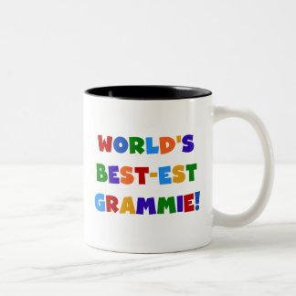 Taza Bicolor Regalos del Mejor-est Grammie del mundo brillante