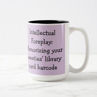 Taza Bicolor Romance de la biblioteca