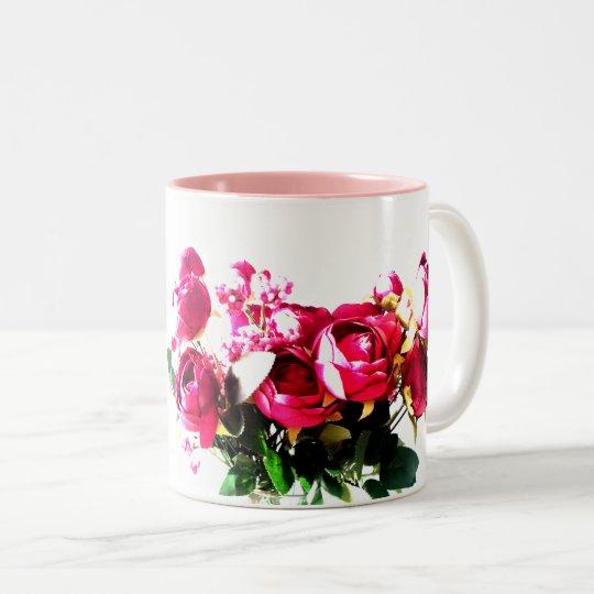 Taza Bicolor Rosas