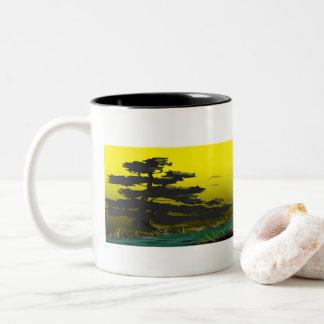 Taza Bicolor Salida del sol del café