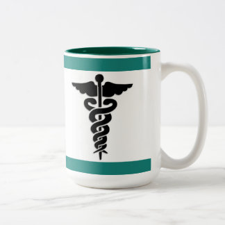 Taza Bicolor Símbolo médico de cuidado