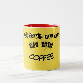 Taza Bicolor sonrisa del café