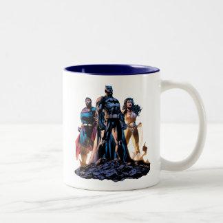 Taza Bicolor Superhombre, Batman, y trinidad de la Mujer