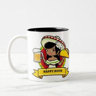 Taza Bicolor Taco de la hora feliz