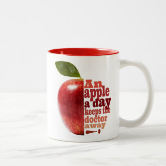 Taza Bicolor Una manzana al día