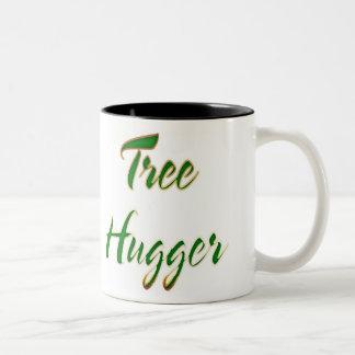 Taza Bicolor Verde de Hugger del árbol